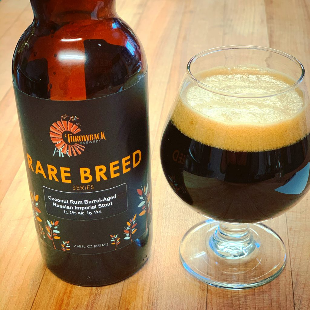 Coconut Rum Barrel-Aged Imperial Stout by Throwback Brewery