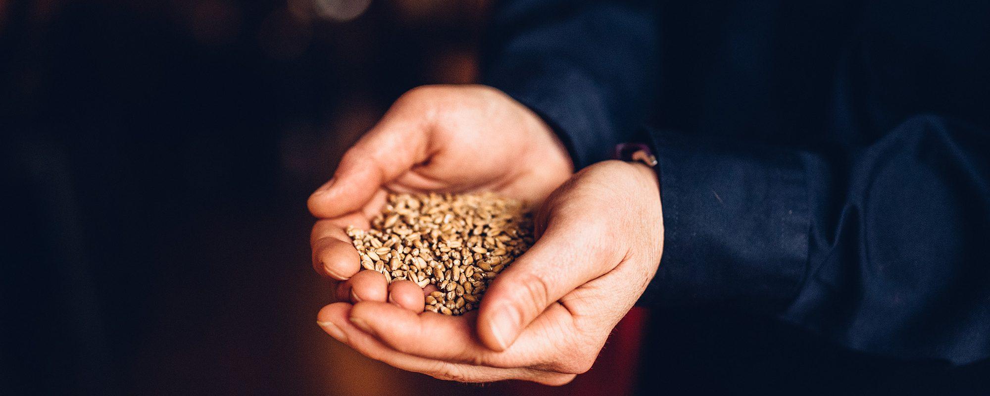 Nicole holding grains